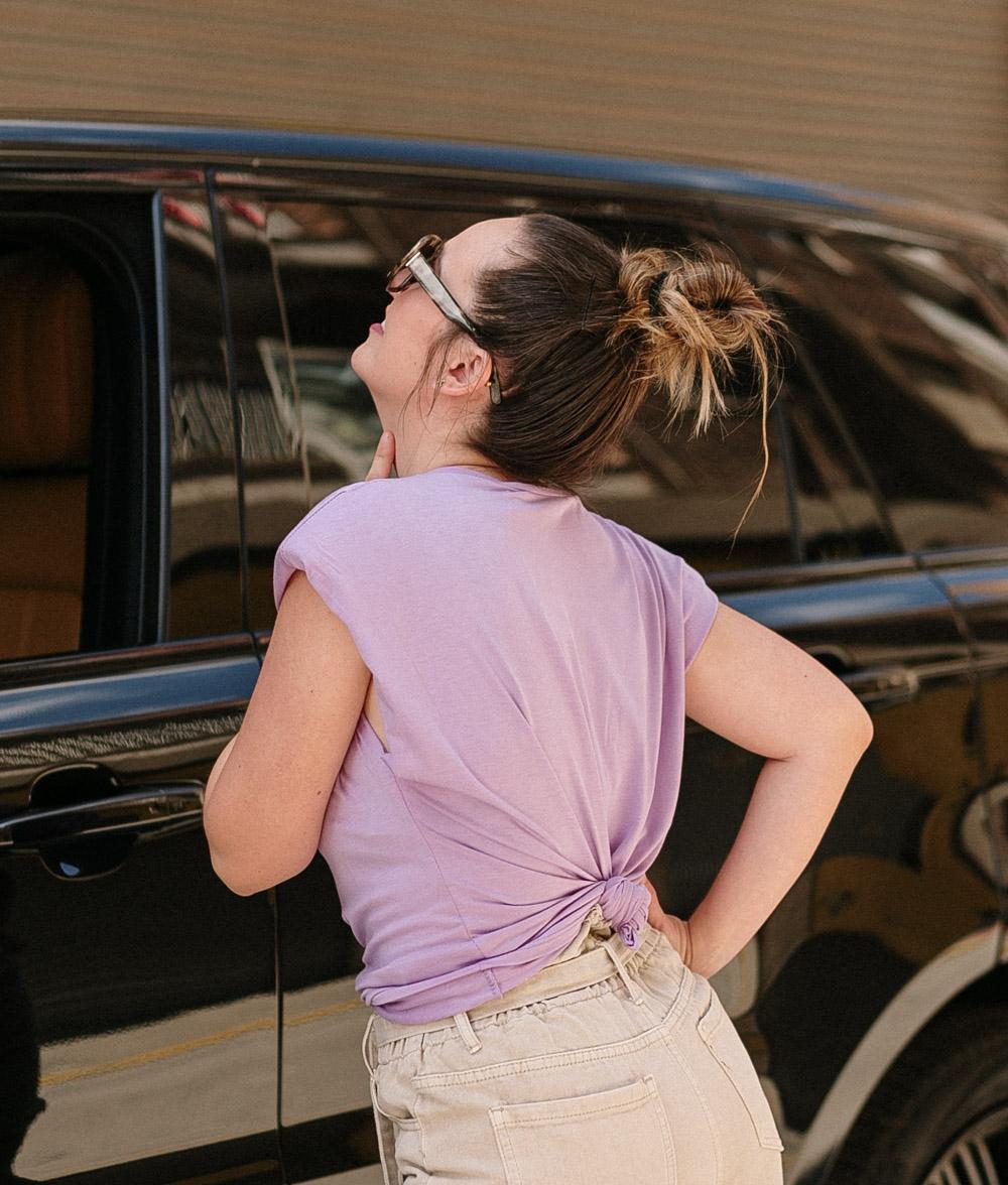 T-Shirt California Shoulder Pads - Purple