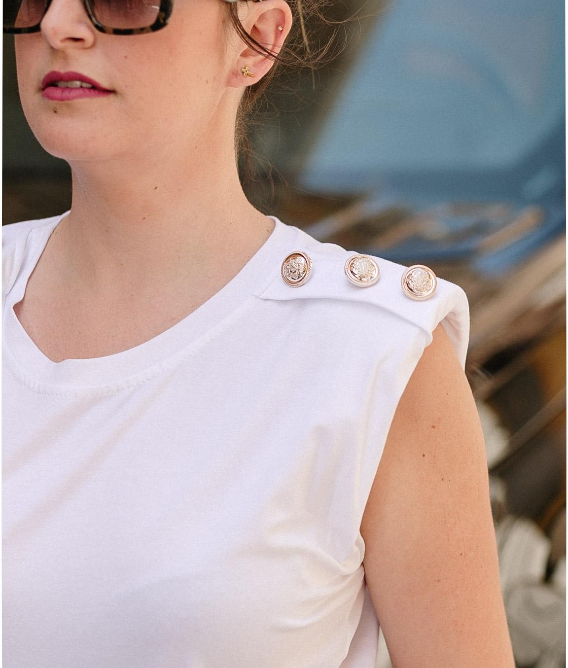 Camiseta Boston Ombreiras - Branco