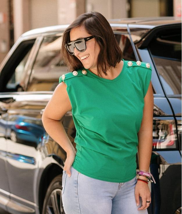 T-Shirt Boston Shoulder Pads - Green