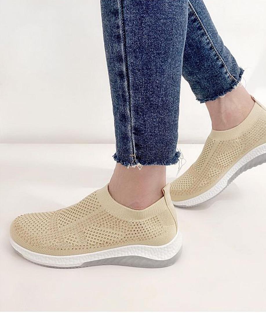 Sneakers Brillantes - Beige