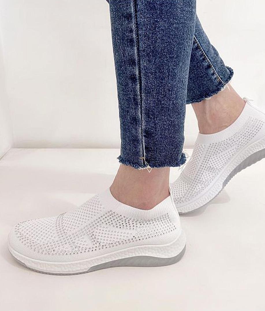 Sneakers Brillantes - Blanco