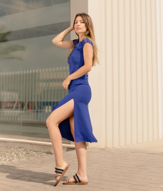 Dress Llanes - Liso Blue Klein