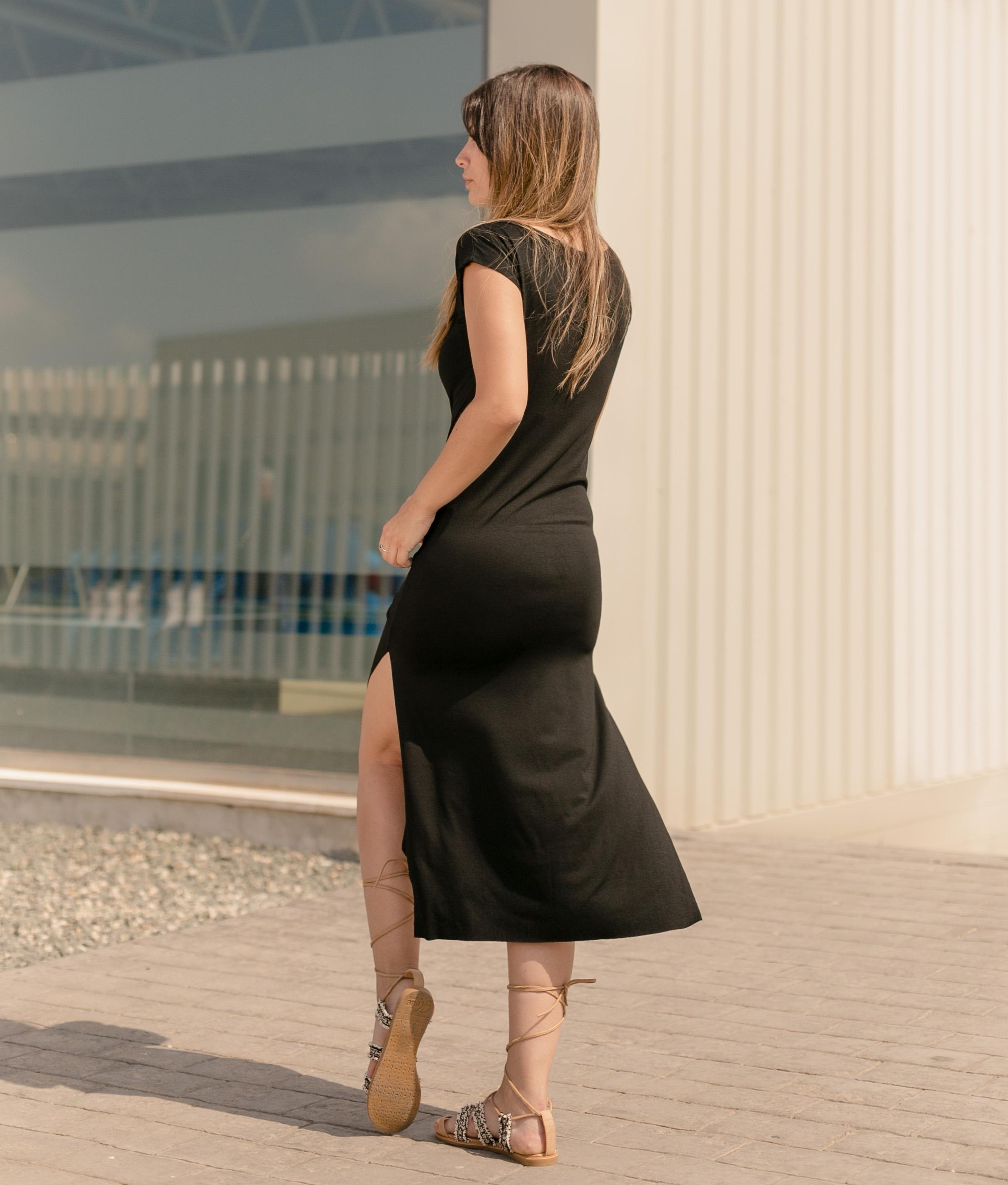Vestido Llanes - Liso Fucsia