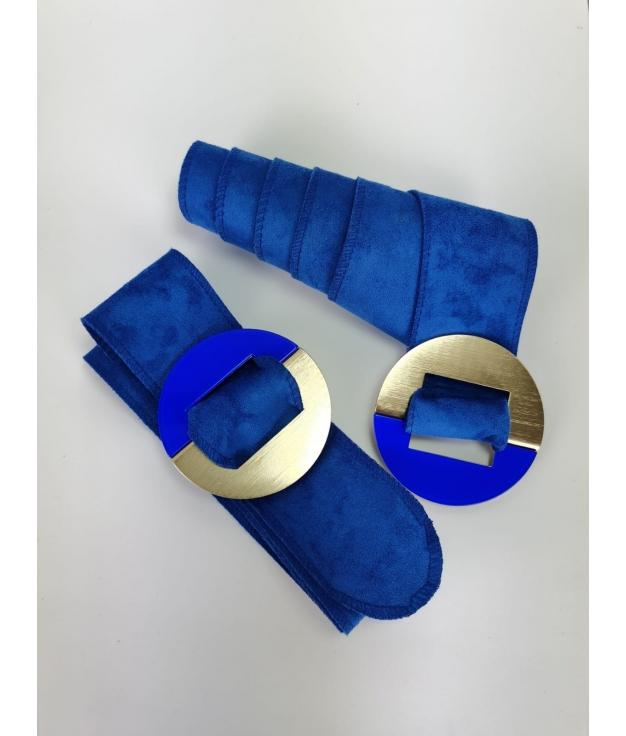 Cinturón Marfil - Azul