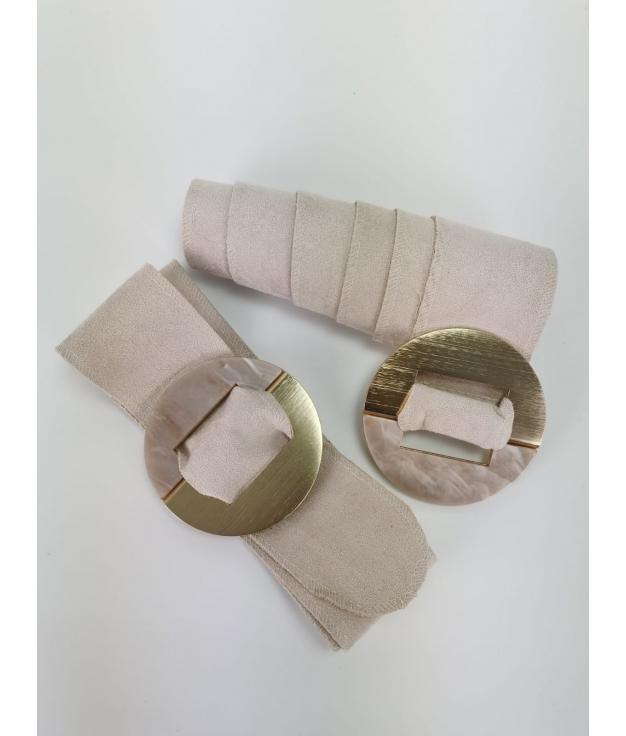 Cinturón Marfil - Beige