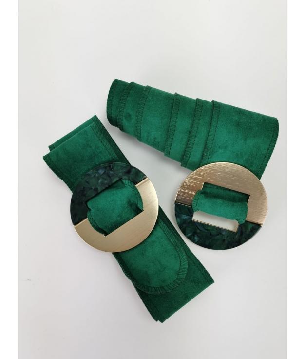 Cinturón Marfil - Verde