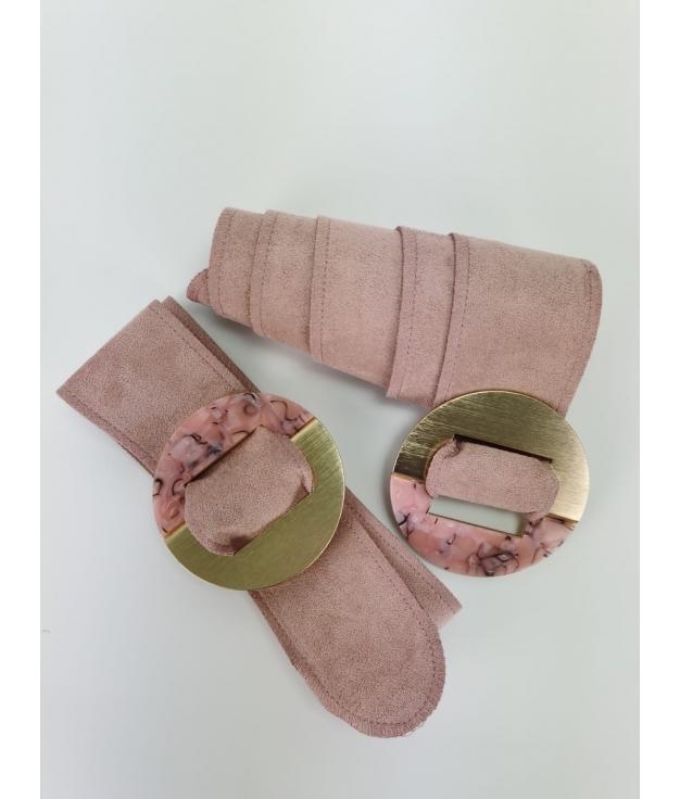 Cinturón Marfil - Rosa