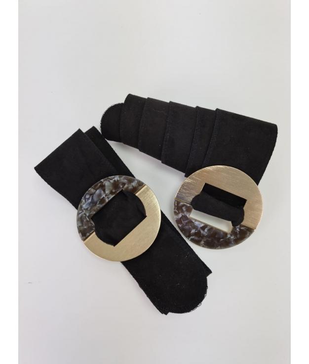 Cinturón Marfil - Negro