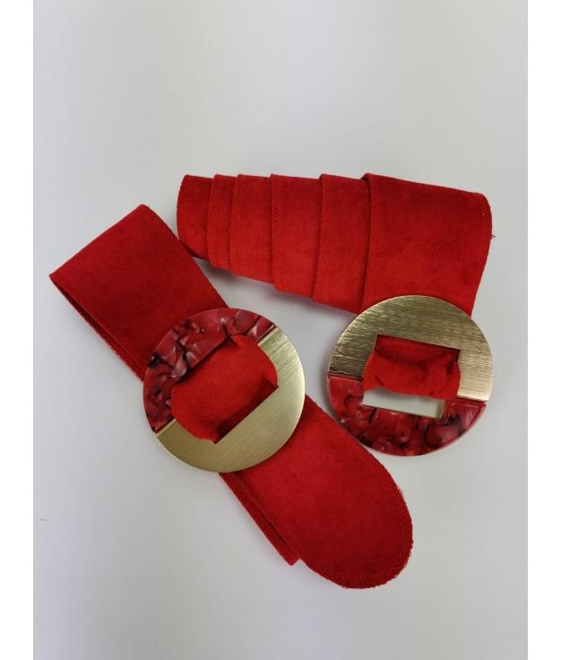 Cinturón Marfil - Rojo