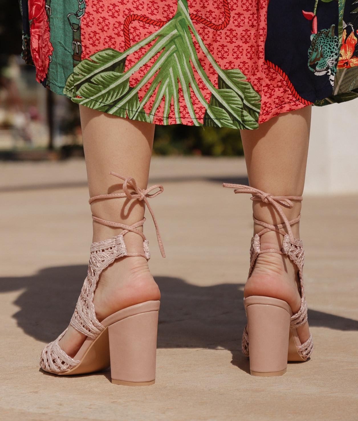 Sandalia de Tacón Tornero - Rosa