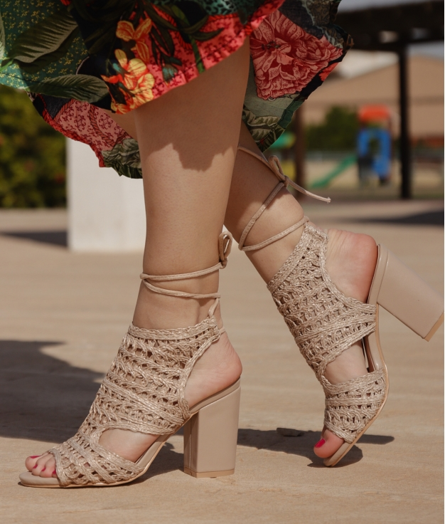 Sandália de Salto Tornero - Bege