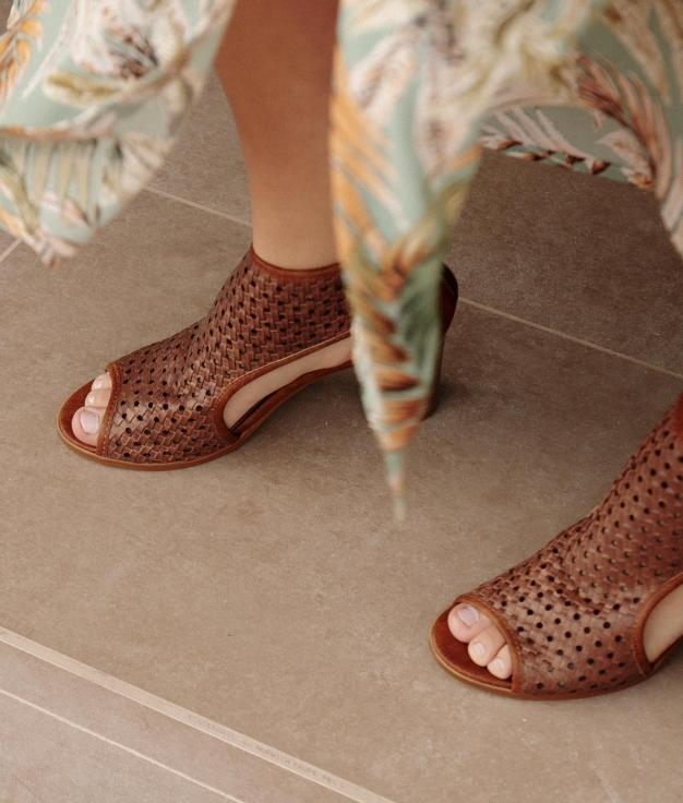 High Sandal Troquele - Camel