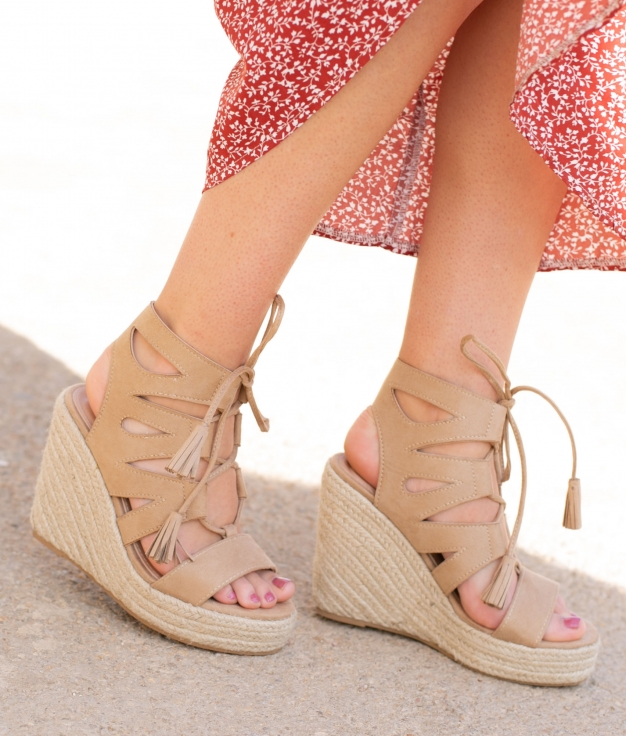 Wedge Heel Marelin - Khaki