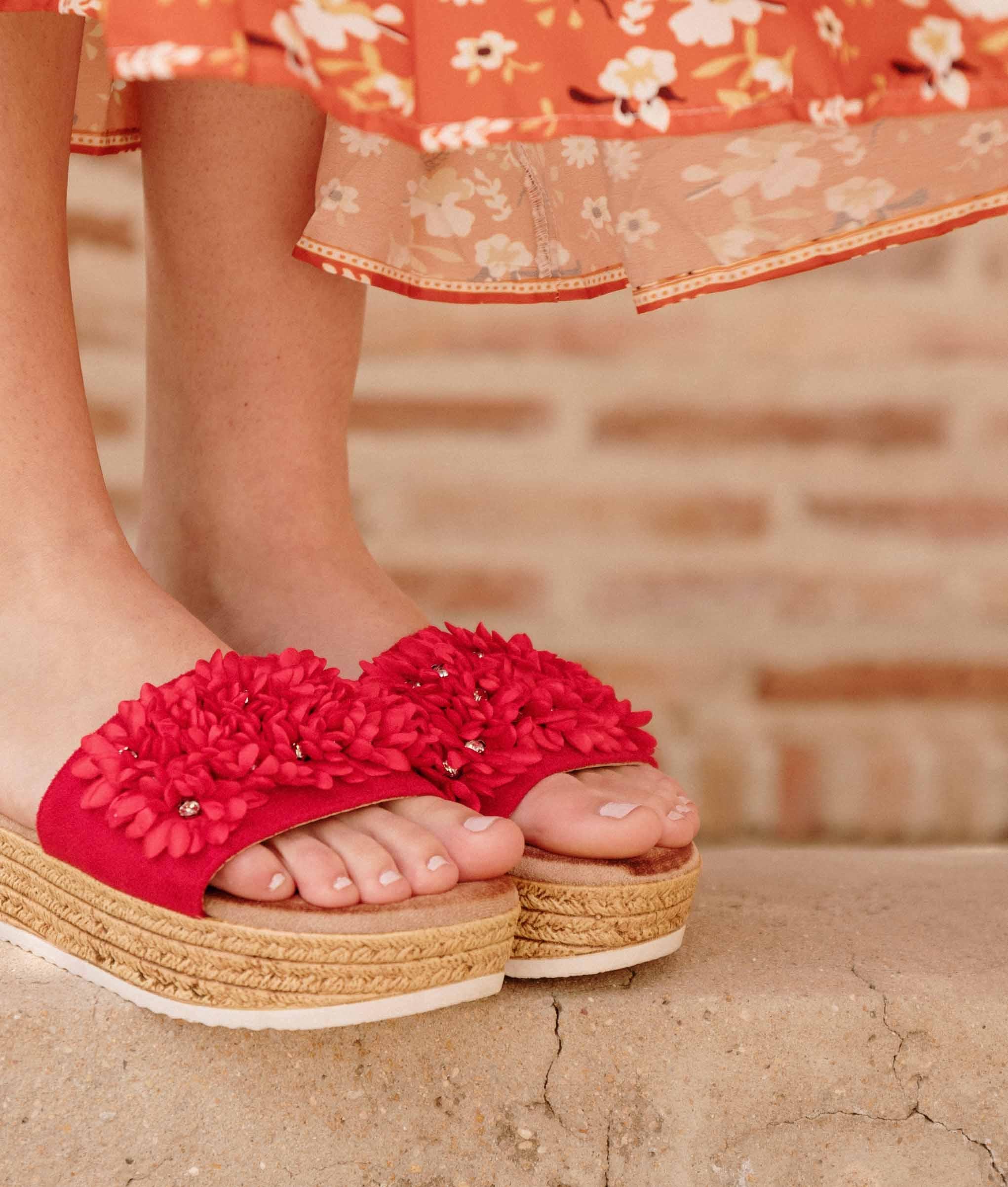 Sandalia Burbal - Vermelho
