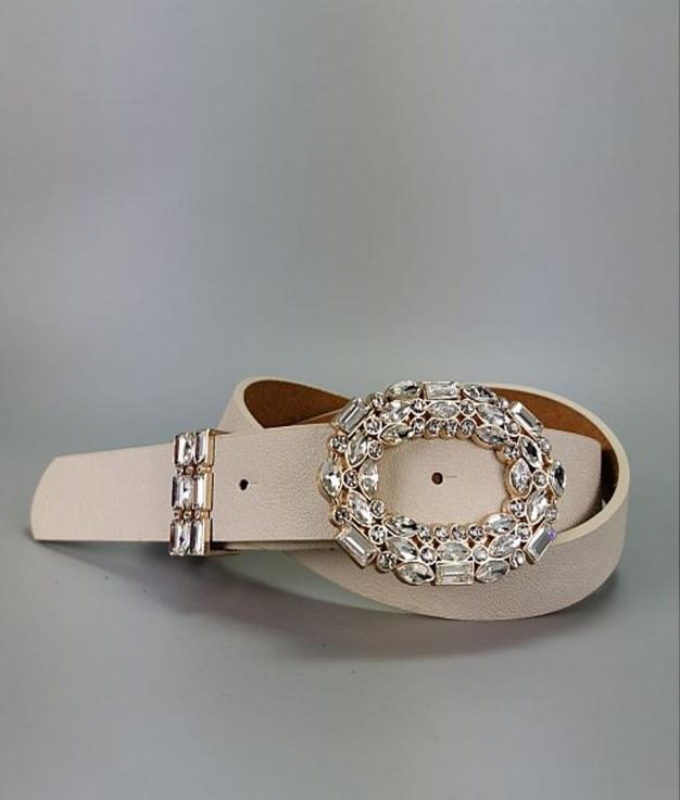 Cinturón Brillantes - Beige