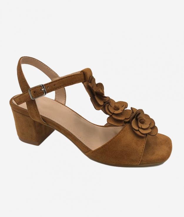 Sandalia de Tacón Elar - Camel