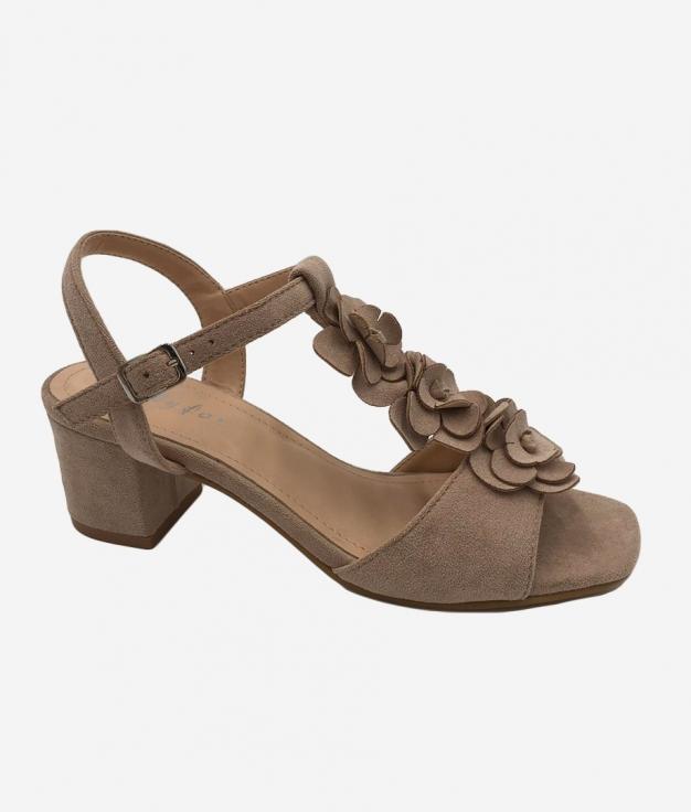 Sandália de Salto Elar - Bege