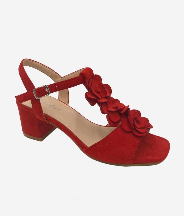 Sandalia de Tacón Elar - Rojo