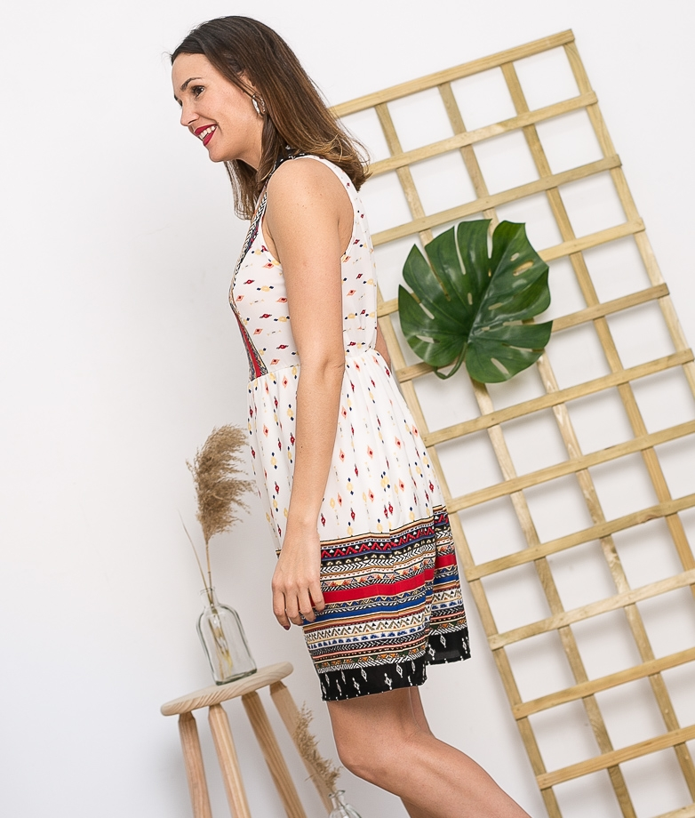 Vestido Seani - Blanc