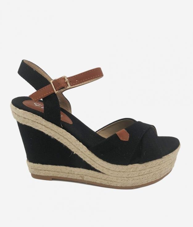Wedge Heel Niven - Black