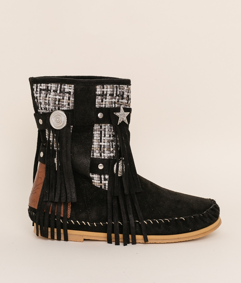 Low Boot Indianini Imari - Black