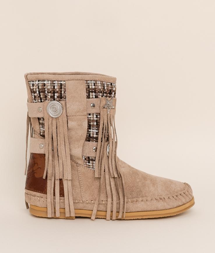 Low Boot Indianini Imari - Beige