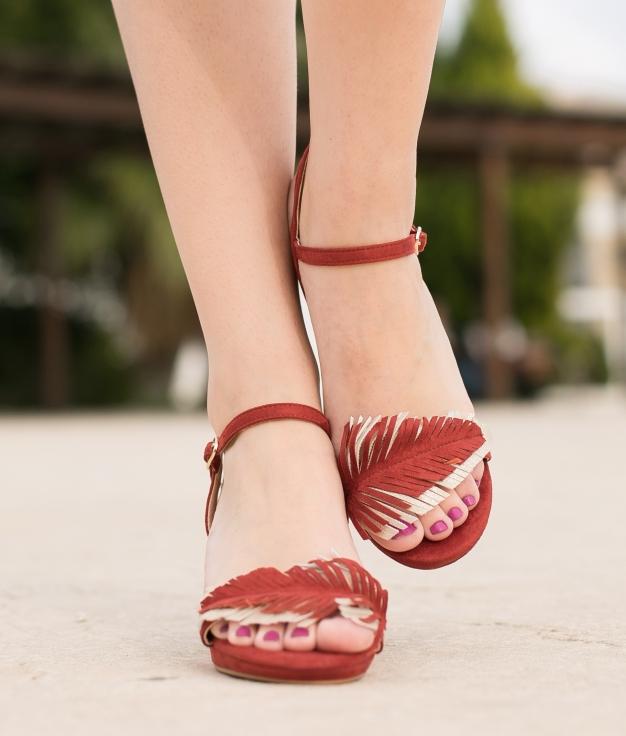 Sandalia Apluma - Vermelho