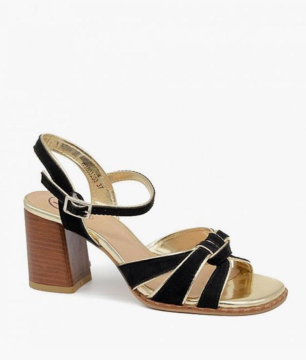 Sandalia de Tacón Obsesión - Negro