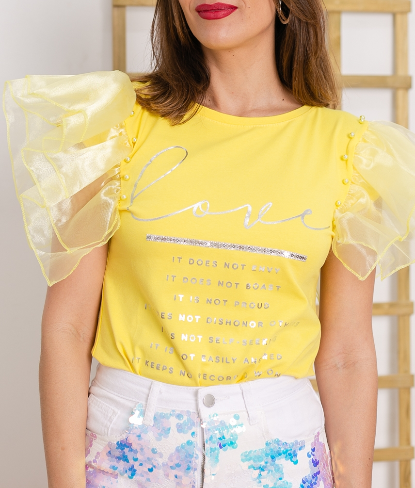 Camiseta Lalaysa - Amarillo