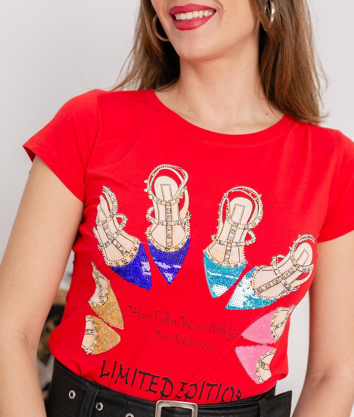 Camiseta Dauni - Vermelho