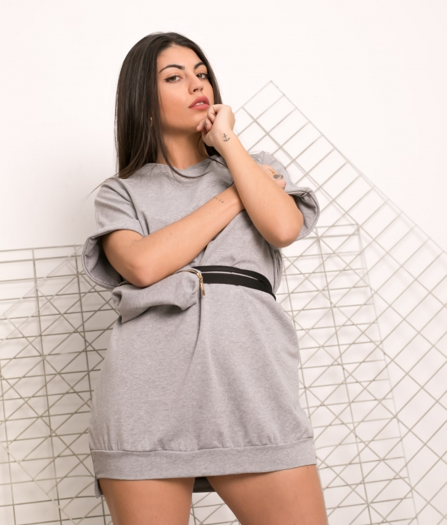 Vestido Yuner - Cinza