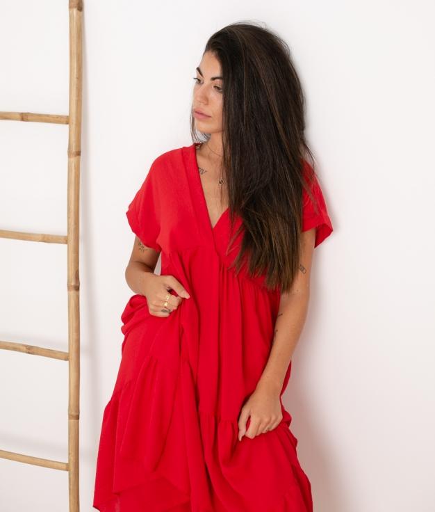 Vestido Criker - Rojo