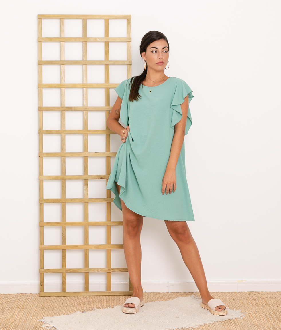 Vestido Menfis - Aguamarina