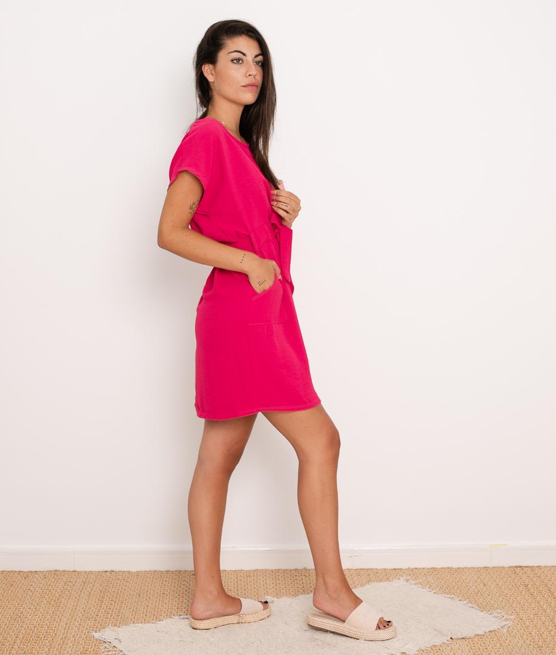 Vestido Tremer - Fucsia