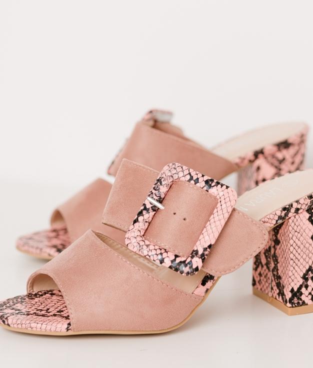 Sandalia de Tacón Borlane - Rosa