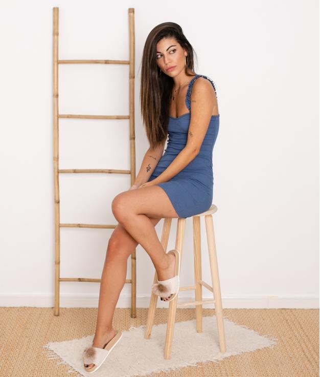 Vestido Vanela - Azul