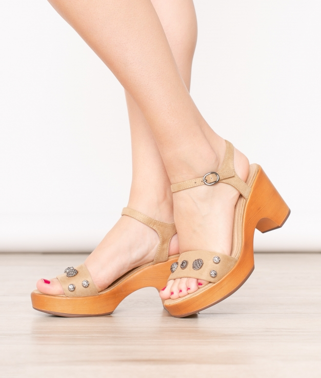 High Sandal Oraz - Camel