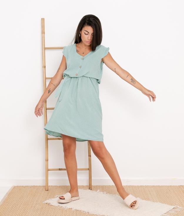 Vestido Landa - Aguamarina