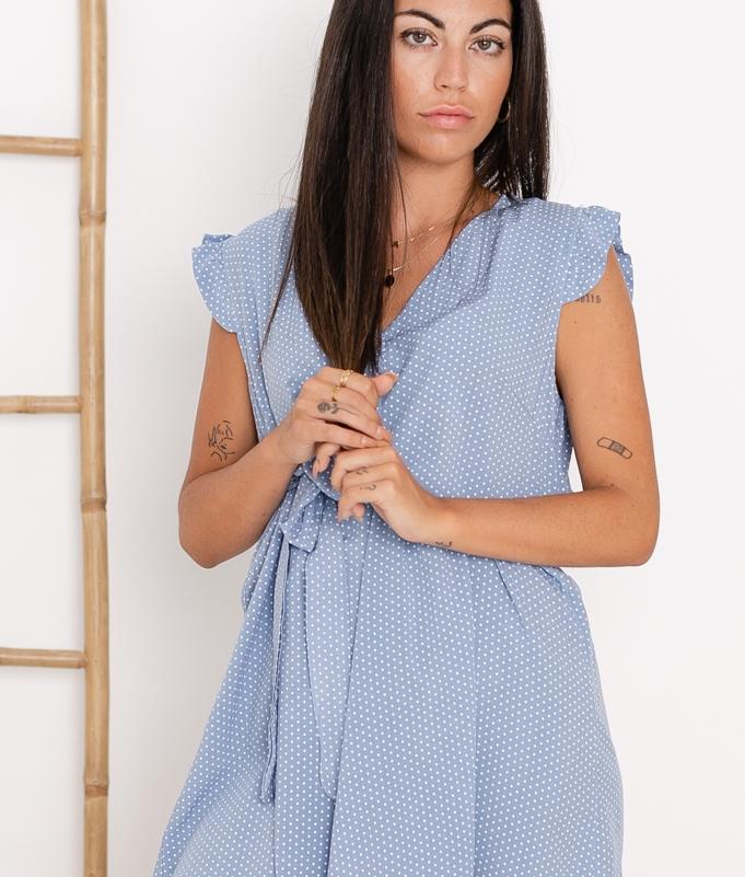 Vestido Landa - Azul Claro