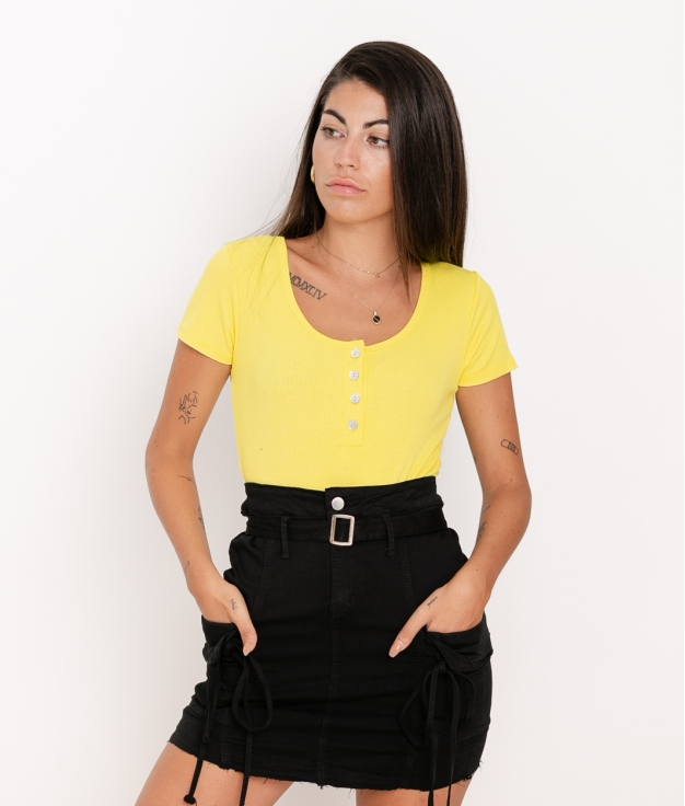 Camiseta Pinki - Amarillo