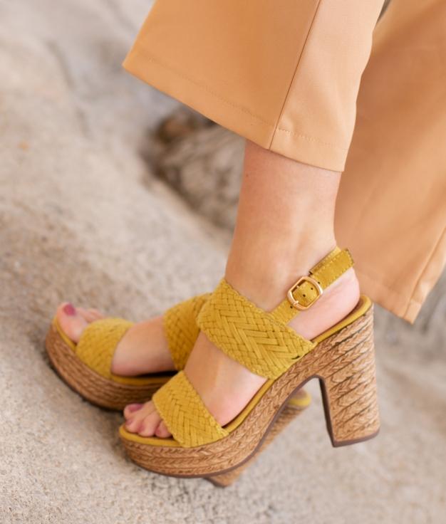 Sandália de Salto Landa - Amarelo