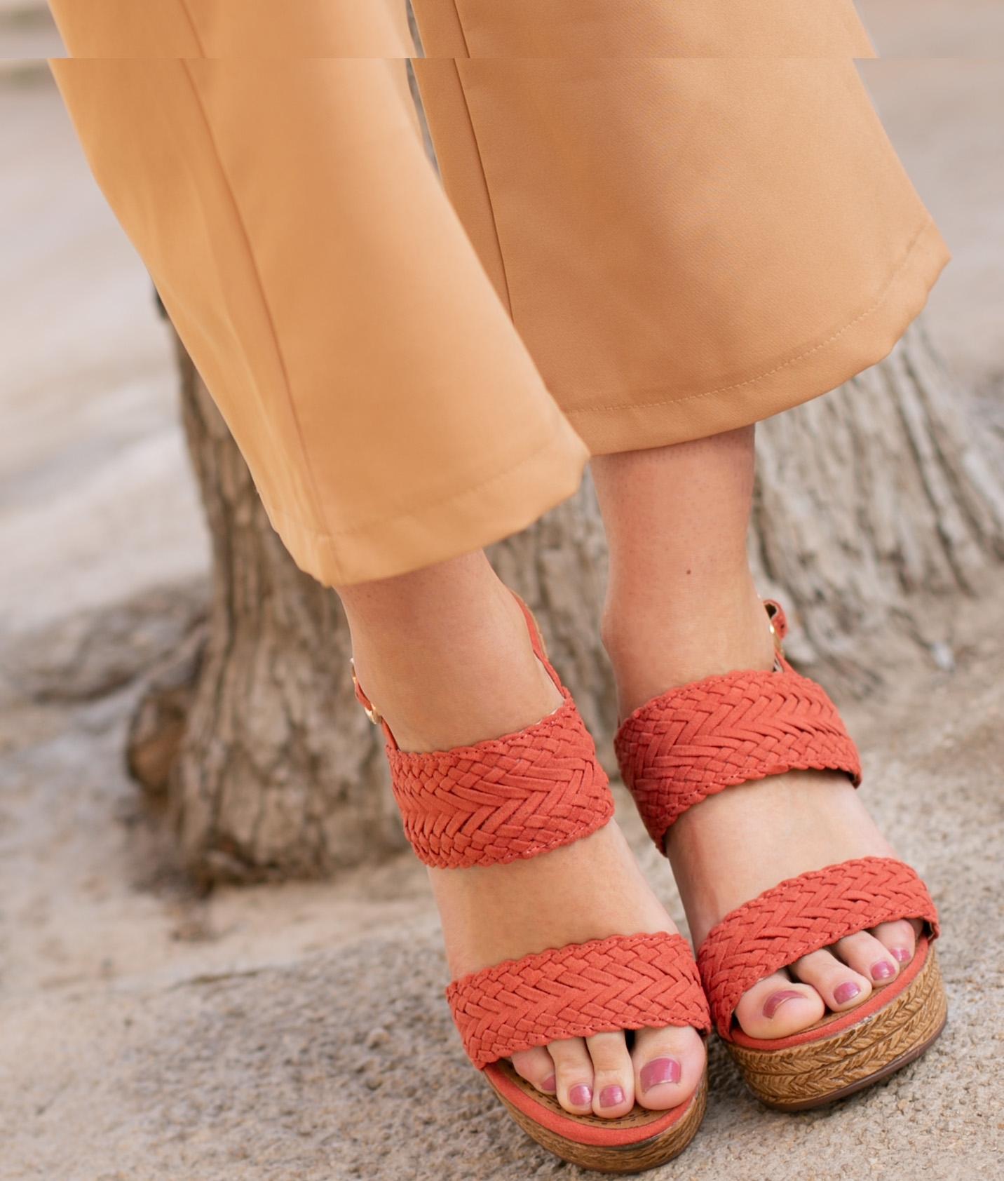 Sandalia de Tacón Landa - Rojo
