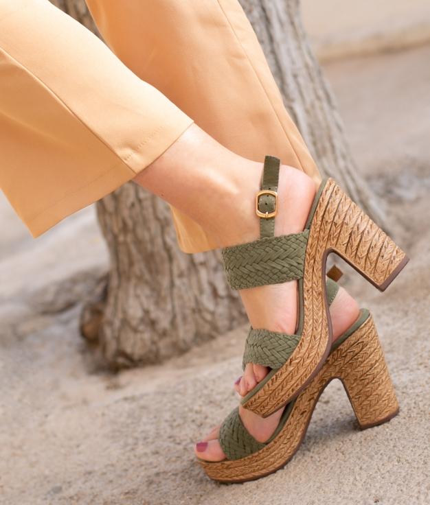 Sandale Talon Landa - Vert