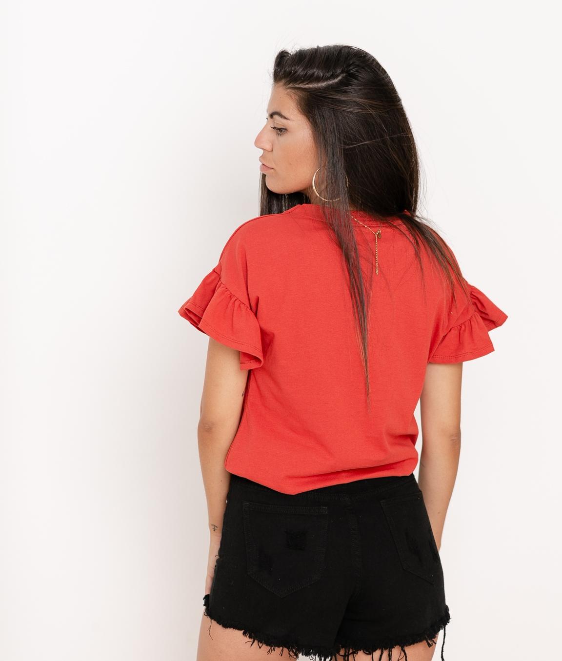 Camiseta Dante - Teja