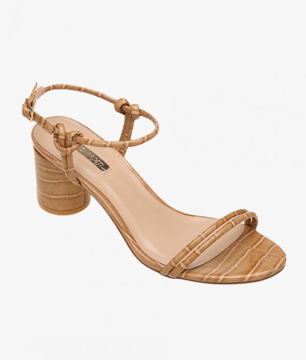 Sandália de Salto Miranda - Camelo