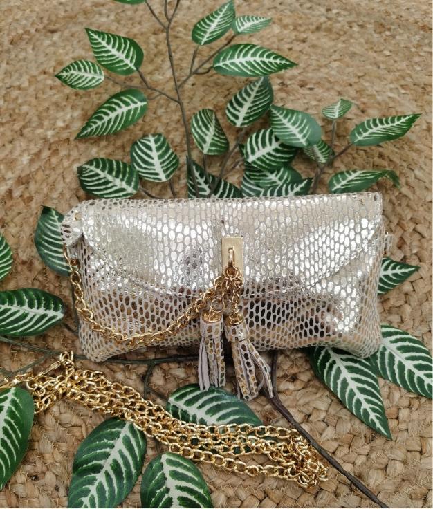 Leather bag Shine - Golden