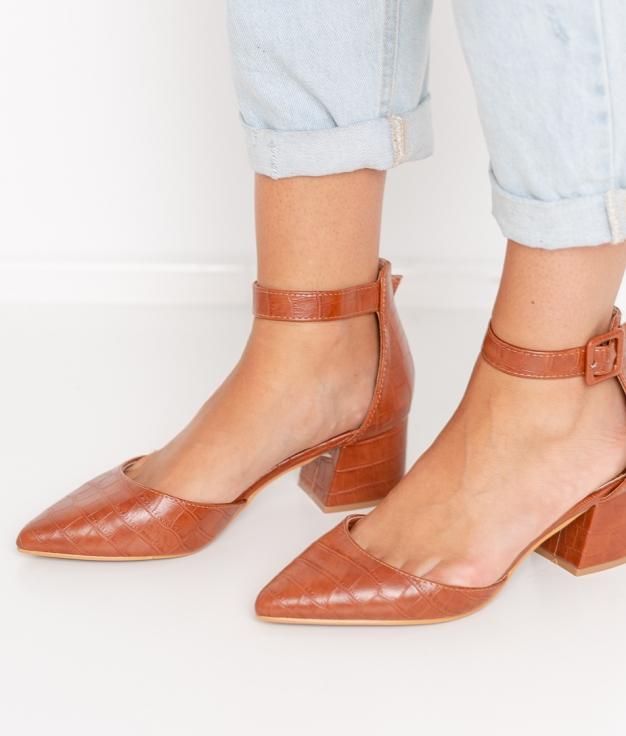 Zapato de Tacón Kalima - Camel