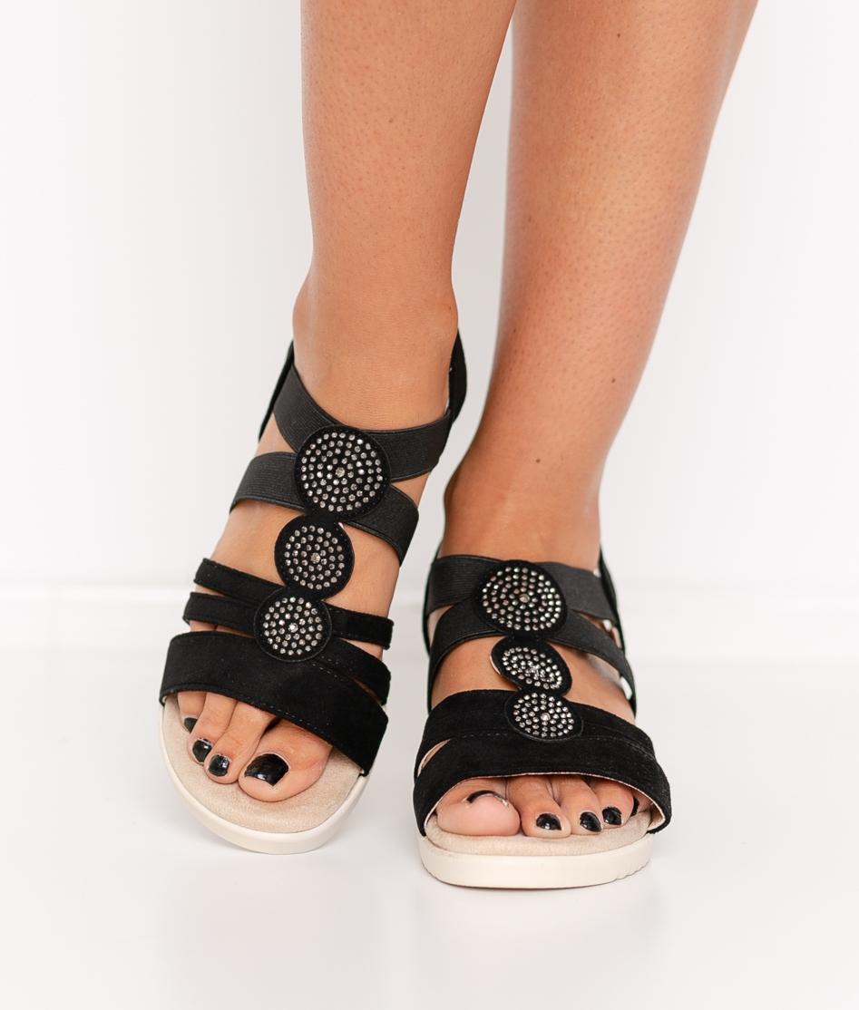 Sandalia de Tacón Calibu - Negro