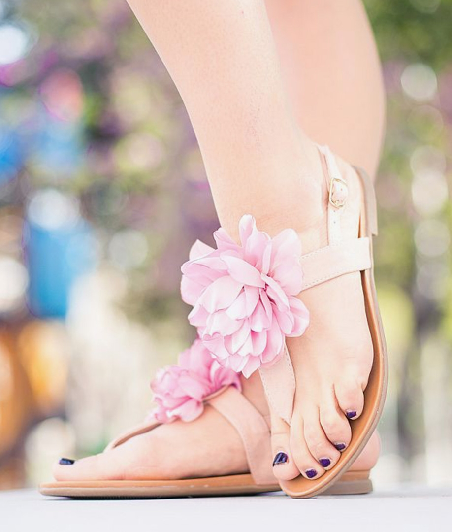 Sandalia Flora - Rosa