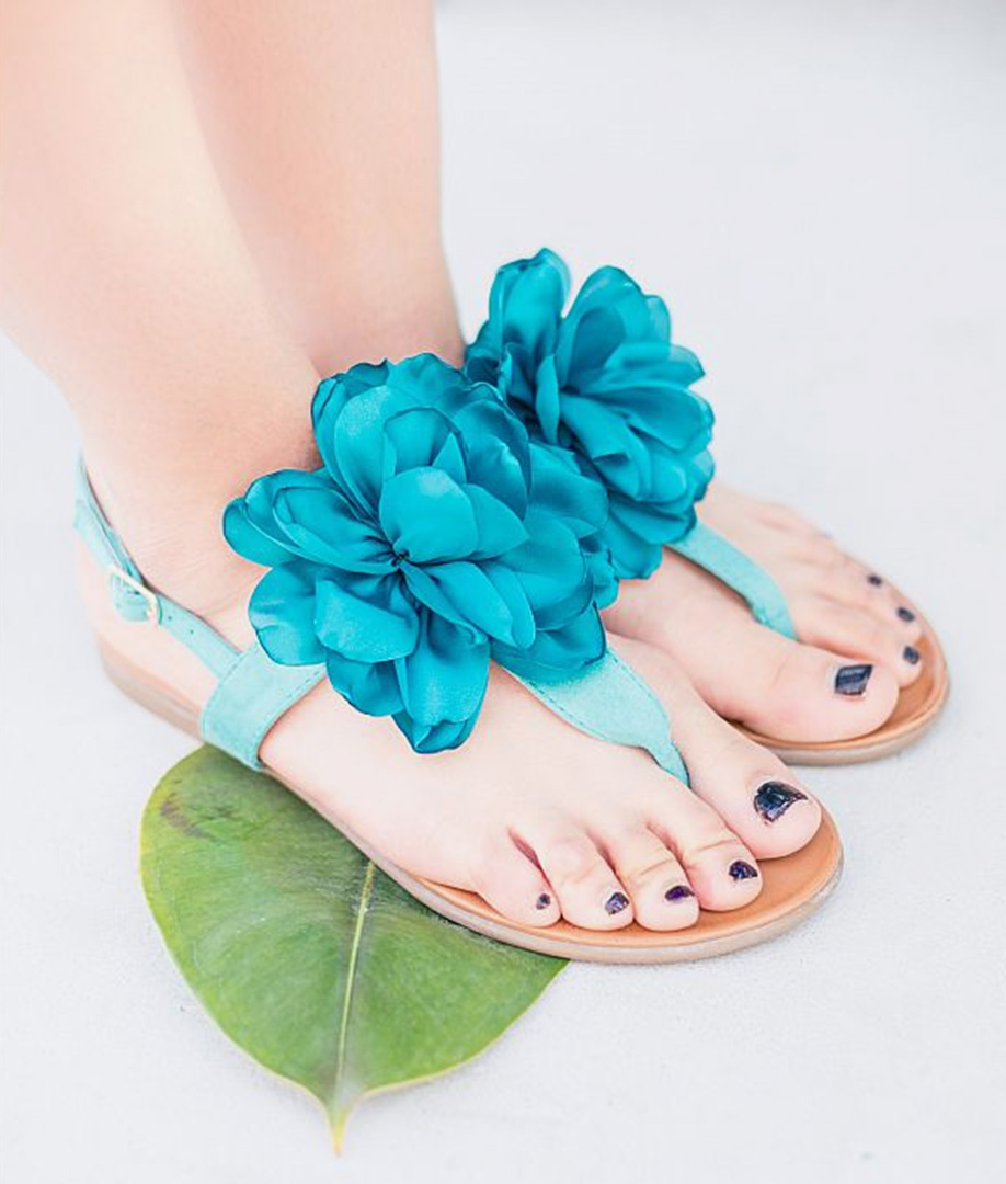 Sandalia Flora - Azul
